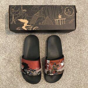 NEW Derschutze Slides US 8 (EU 41) Deadstock 100% OG Sandals Slide Slippers