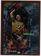 1996-97 TOPPS FINEST ROOKIE CARD RC #43: DEREK FISHER - LOS ANGELES LAKERS