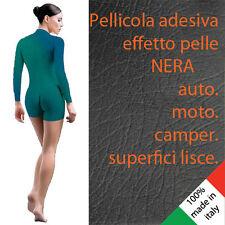 ADESIVO PELLE CUOIO NERO cm 75 x 50 pellicola effetto pelle leather