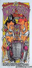 Rockin Jelly Bean Mooneyes Japan 2005 Silkscreen Car Show Poster Metallic Mint