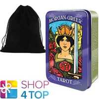 MORGAN GREER TAROT TIN DECK CARDS ESOTERIC US GAMES SYSTEMS WITH VELVET BAG NEW