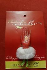 Dept 56 Christmas Krinkles Patience Brewster Red FASHION GLOVE PIN