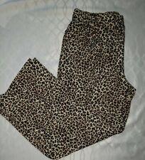 Leopard Print Pants Women's Size XL Robert Louis