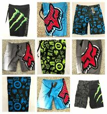 Fox Mens Summer Surf Beach Swim Board Shorts Boardshorts  - size 30 - Size 42