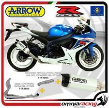 Arrow scarico Completo Street Thunder alluminio Bianco Suzuki GSX R 600 11