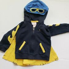 Truly Scrumptious by Heidi Klum superhero jacket sweater with removable cape.