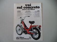 advertising Pubblicità 1976 GILERA CB1 50