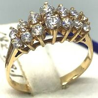 Vintage~18K Yellow/Rose Gold~ .56CT~ APPROX G-H/VS2-SI1 Diamond Cocktail Ring.