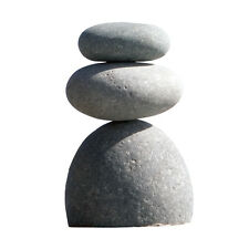 Triple Rock Cairn Natural River 3 Stacked Stones Zen Garden Decoration Statue