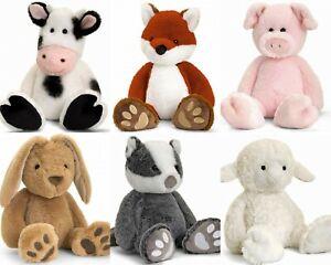LOVE TO HUG KEEL SOFT TOY TEDDY RABBIT DOG CAT BADGER FOX COW PIG LAMB 18CM