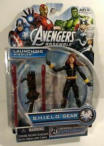 """Marvel Avengers Assemble Inferno Cannon BLACK WIDOW 4"""" Figure SHIELD GEAR 2013"""