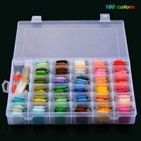 Cotton Thread Cross Stitch Sewing Embroidery Floss Kit 100 Colors DIY Tool Set
