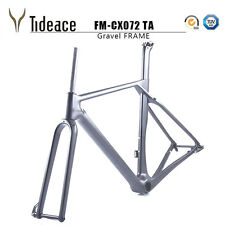 2018 New Toray Carbon Gravel Frame Thru Axle 56cm Matte BB386 Cyclocross Frame