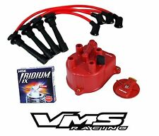 VMS RACING DISTRIBUTOR CAP ROTOR WIRES NGK SPARK PLUGS FOR HONDA CRV 2.0L B20
