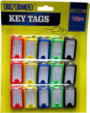 KEY TAGS PLASTIC ASSORTED KEY RINGS COLOURED PLASTIC ID TAGS NAME LABEL