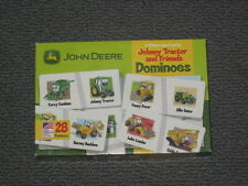 John Deere: JOHNNY TRACTOR Dominoes Matching Game Preschool Construction ~ EUC
