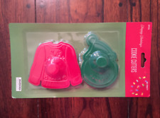 NEW UGLY CHRISTMAS SWEATER AND SNOWMAN CHRISTMAS HOLIDAY COOKIE CUTTER SET