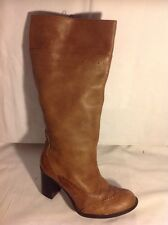 Fiore Leather Brown Knee High Leather Boots Size 7