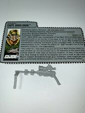 Vintage GI Joe 1990 Capt.  Grid Iron Weapon And Card Only