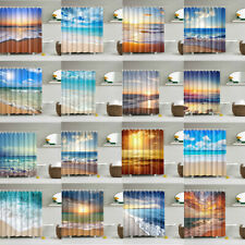 "Ocean Theme Sunshine Beach Wave Shower Curtain Bathroom Waterproof Fabric 71*71"""