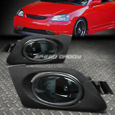 FOR HONDA CIVIC 01-03 2/4DR OE BUMPER SMOKED FOG LIGHT LAMP KIT WITH SWITCH+WIRE