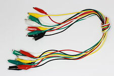 40cm Crocodile Test Lead Set 10 Leads 5 Colours #1