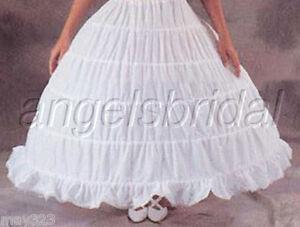 5-Hoop Wedding Gown Renaissance Medieval Cosplay Costume Petticoat Skirt Slip