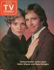 HELEN SHAVER BEAU BRIDGES UNITED STATES ORIGINAL 1980 DALLAS NEWS TV MAGAZINE