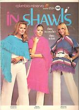 Columbia Minerva Leaflet #2524 - In Shawls Knitting and Crochet Patterns