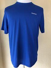 Reebok Mens Workout Shirt Size M Blue Training Run Athletic PlayDry Polyester