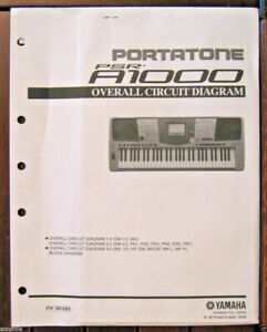 Yamaha PSR-A1000 Keyboard Original Overall Circuit Diagram and Schematics