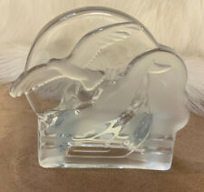 PartyLite Clear Glass Seagulls Votive Tea Light Candle Holder