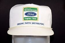 Ford Remanufactured Engines Parts Genuine Distributor White Snapback Hat Rare