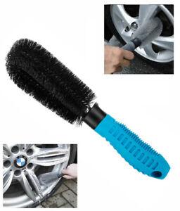 Alloy Wheel Brush Car Cleaning Washing Easy Reach Soft Bristle Handle Grip Bike