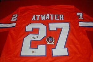STEVE ATWATER Denver Broncos signed Jersey Beckett Witnessed COA 2