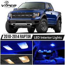 2010-2014 Ford Raptor Blue Interior LED Lights Package Kit + License Lights