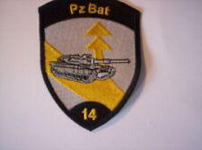 Schweizer Armee  21  aufnäher  Pz Bat 14 in schwarz    ca 9 x7 cm