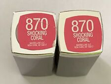 (2) Maybelline Color Sensational Lipstick, 870 Shocking Coral