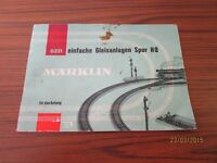 Märklin Track Systems Booklet for The Anfang - Track Ho - Well 1960er Years/S13