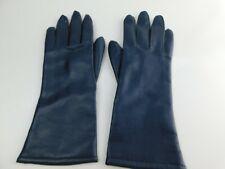 Vintage Ladies Finale 10-1/2� Black Faux Leather Gloves