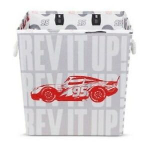 """Cars Play All Day Red Storage Bin 13""""x13"""""""