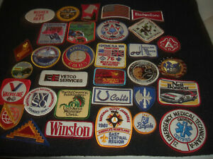 Company Advertising Vintage 1970-80's Patches Wholesale Lot of 32  Lot  #4