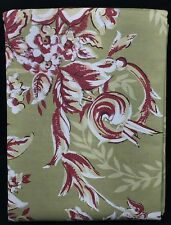 Pottery Barn Standard Pillow Sham Sage Green Burgundy Red White Floral New