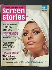 August 1966 Screen Stories Magazine  Sophia Loren