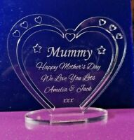 Personalised Heart with Message for Mummy: Mother's Day, Birthday,  Gift