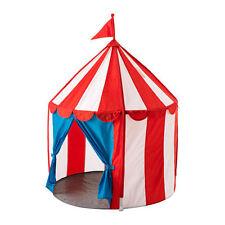 IKEA cirkustält de Jeu Enfants Tente, 100% polyester, blanc/bleu/rouge, En/Extérieur