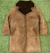 Vintage Richard Draper Del Boy Dealer Sheepskin Leather Coat Mens Size Small