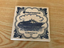 Holland America Coaster Tiles - MS Rotterdam VI 1997