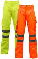 Stand Safe Hi Vis Viz Polycotton Safety Work Trousers EN471 CLASS 1