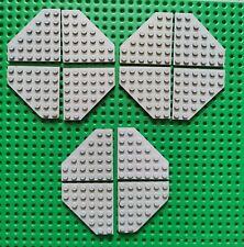 Lego 4 x Platte 6x6 Eckplatte 6106 neu hellgrau Zubehör Basic